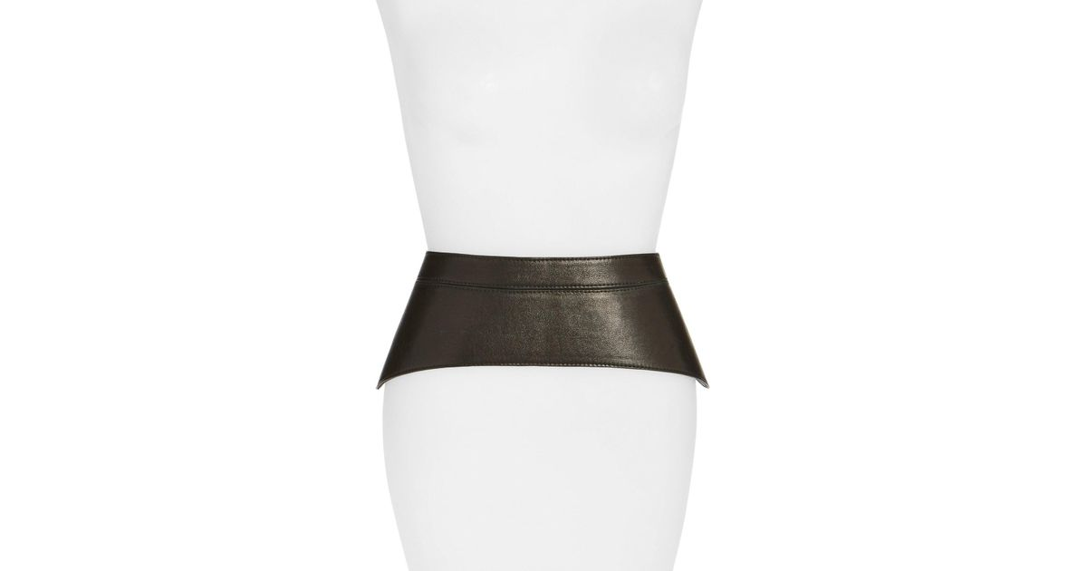 66cfded367 Lyst - Raina  peplum  Leather Corset Belt