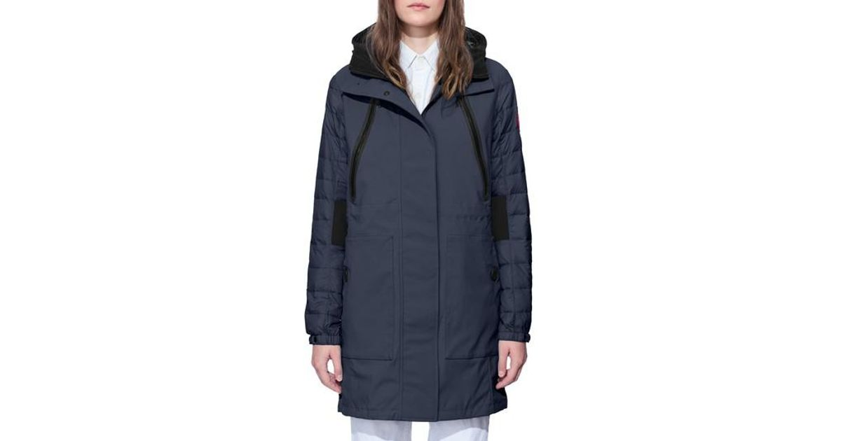 e32cad761b9e ... Down Parka with Genuine Coyote Fur Trim Lyst - Canada Goose Sabine Coat  in Black ...