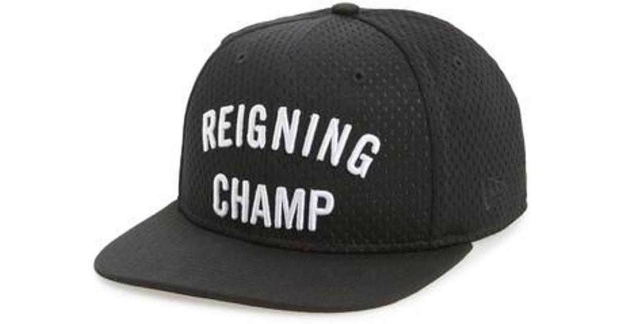 5cf73930e3 Reigning Champ Snapback Baseball Cap in Black for Men - Lyst