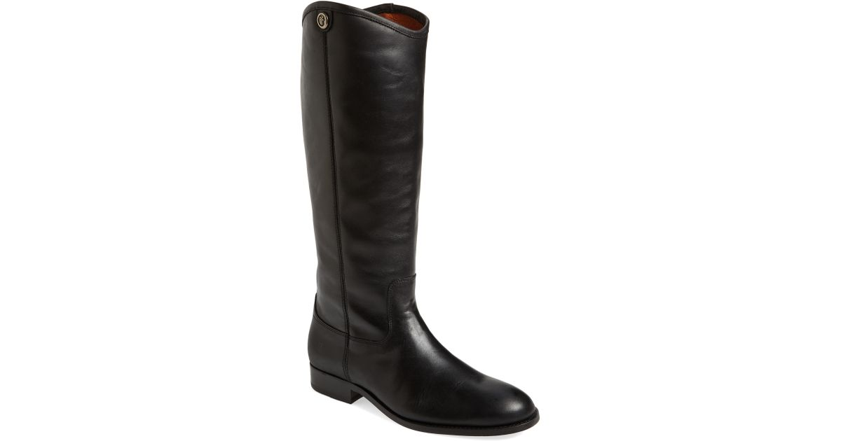 918ecf74a55 Lyst - Frye Melissa Button 2 Knee High Boot in Black