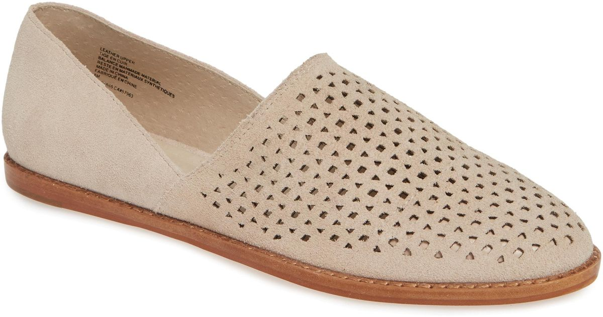 a014ff0370c Lyst - Caslon Caslon Adrian Perforated Flat in Natural