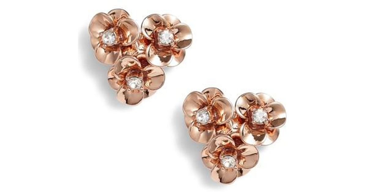c3176e948 Kate Spade Shine On Flower Cluster Stud Earrings in Metallic - Lyst