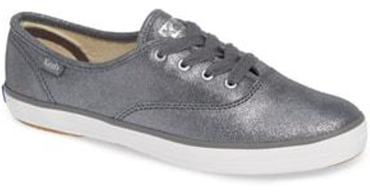 bfee684732e4 Lyst - Keds Keds Champion Glitter Suede Sneaker