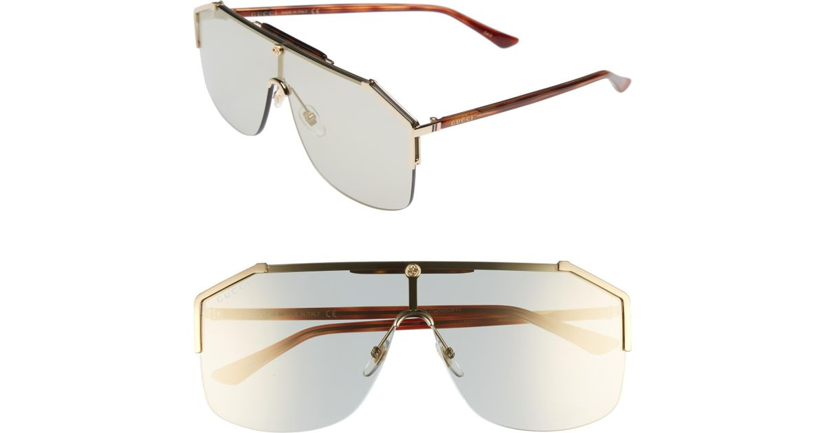 1f8e8fe925d6e Gucci Retro Web Shield 62mm Sunglasses - Blonde Havana for Men - Lyst