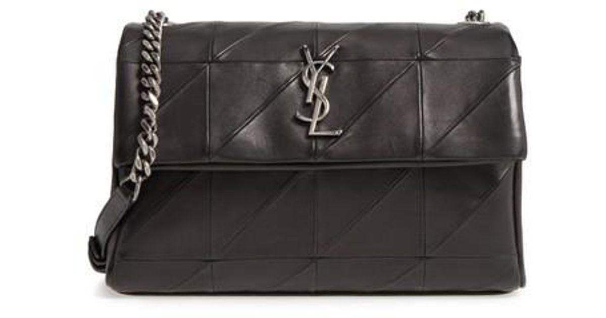 Lyst - Saint Laurent West Hollywood Patchwork Leather Shoulder Bag - in  Black 0cf878917c