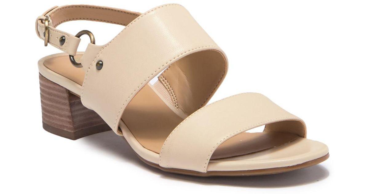 e332318adae Lyst - Naturalizer Aubrey Block Heel Sandal