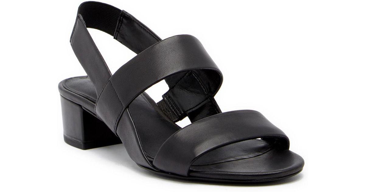 b4cbbd9e4ff Lyst - Via Spiga Tiana Slingback Block Heel Sandal in Black