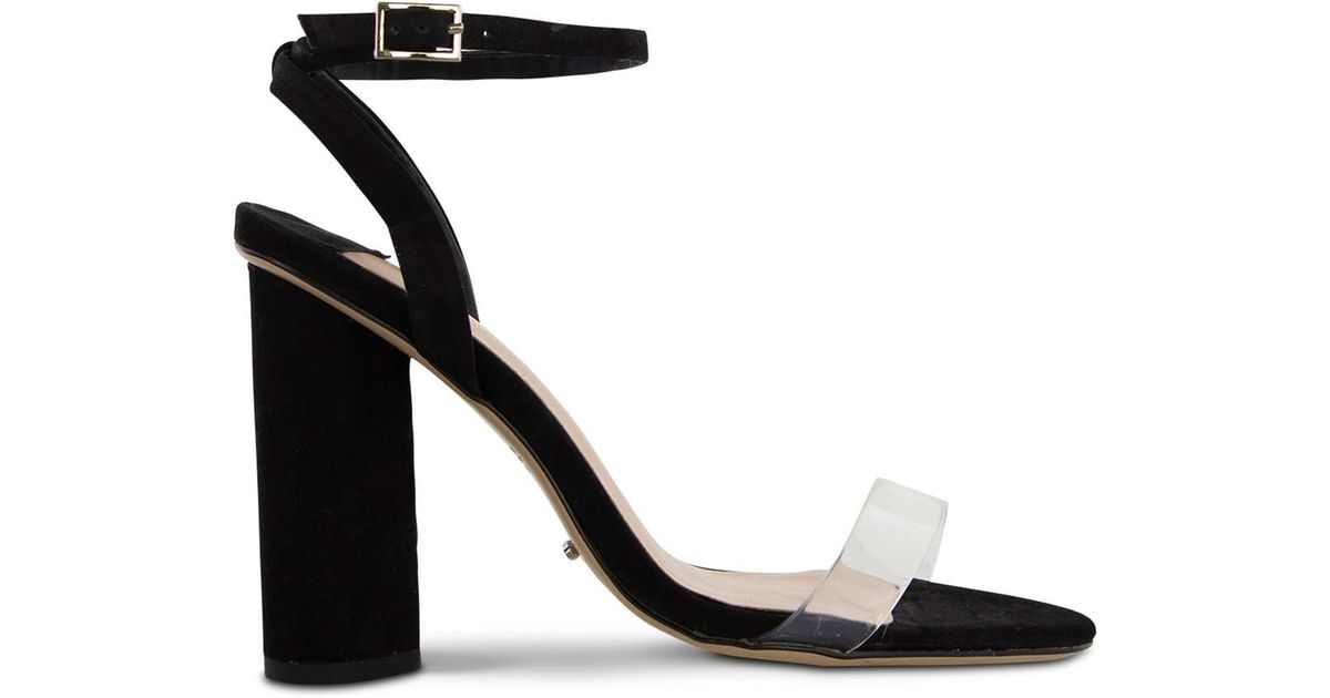 66d43f48c08 Tony Bianco - Black Tommi Round Heel Sandal - Lyst