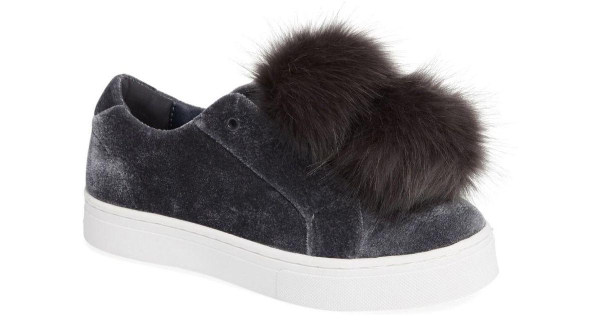 1dfdfc75e218a4 Lyst - Sam Edelman  leya  Faux Fur Laceless Sneaker (women)