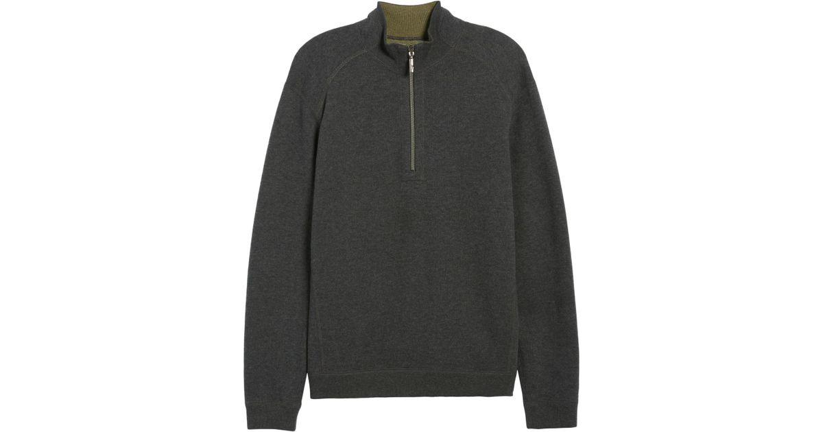 Tommy Bahama Men/'s Big /& Tall Flipside Reversible 1//2 Zip Mockneck Sweater