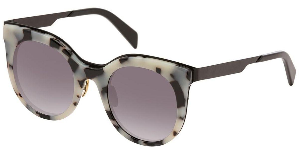be5121961c Lyst - Balmain Cat Eye 51mm Acetate Frame Sunglasses in Brown
