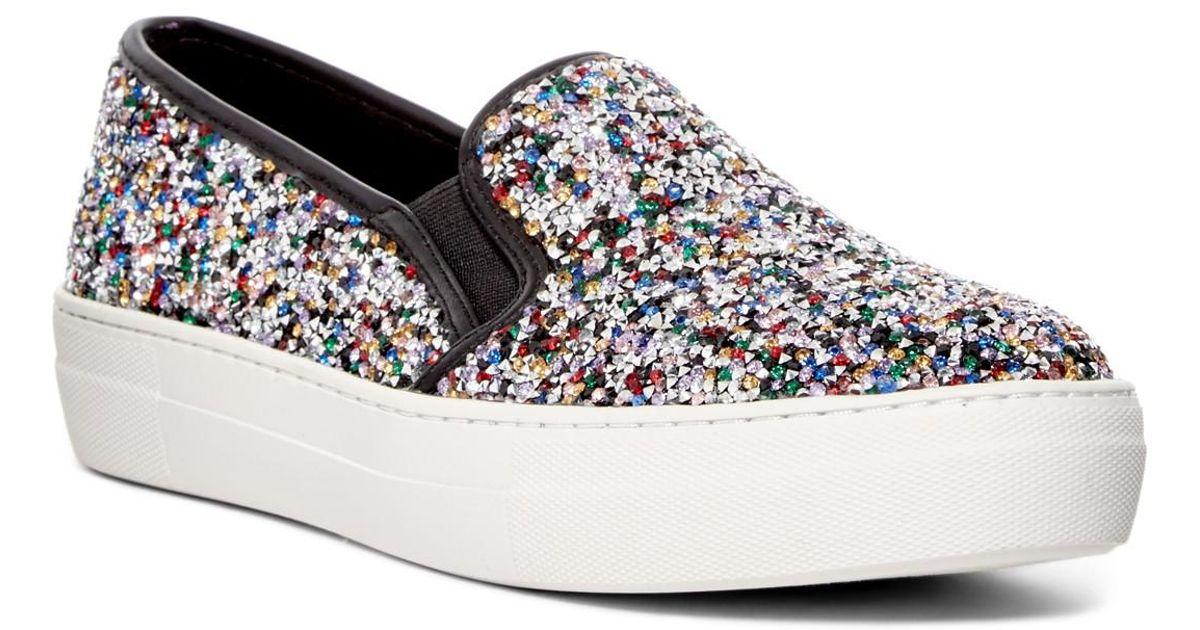 Steve Madden Crystal Embellished Platform Sneaker G2ihyO