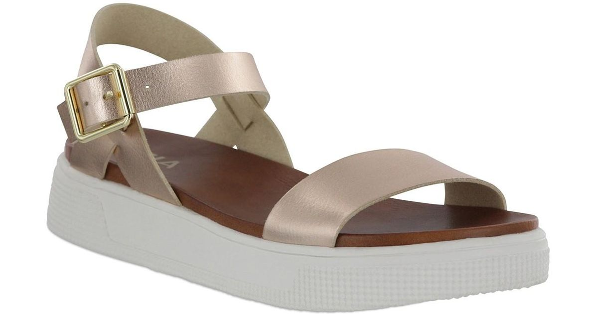 c854dcbeb77 Lyst - MIA Abby Open Toe Platform Sandal