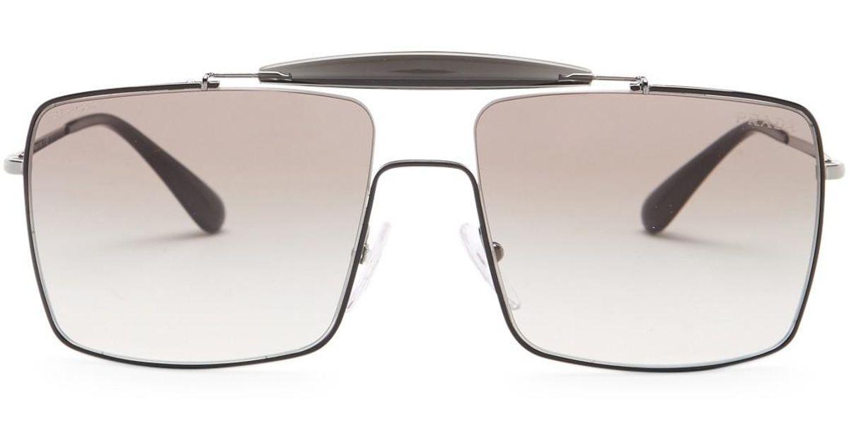 Lyst - Prada Men\'s Caravan Square Metal Frame Sunglasses for Men