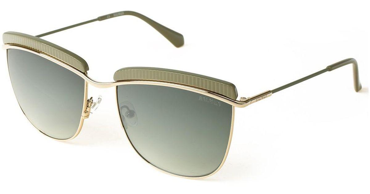 a6550a608a Lyst - Balmain Clubmaster 56mm Metal Frame Sunglasses in Green