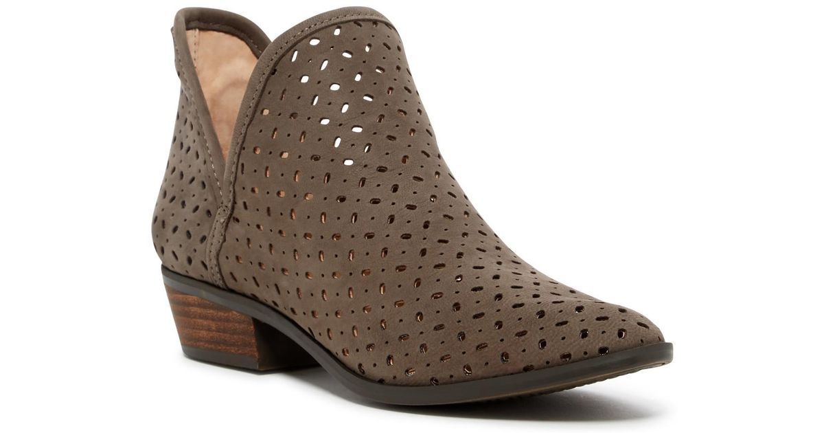 a29a1b642e1f8d Lyst - Lucky Brand Kelbie Perforated Bootie in Brown