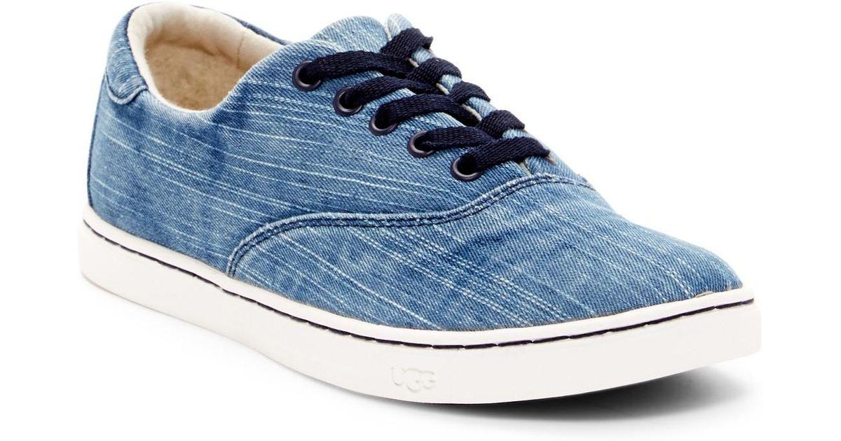 1d4efe6b711 UGG - Blue Eyan Ii Washed Denim Sneaker for Men - Lyst