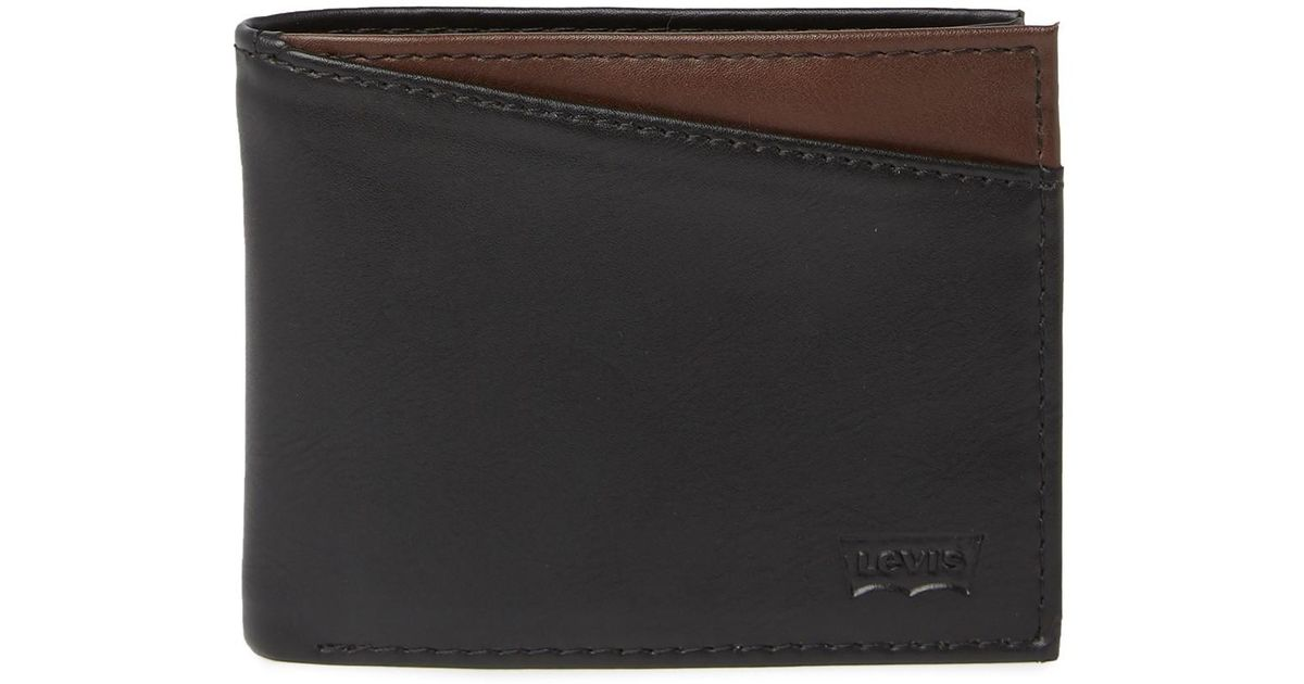 8f4a6b031 Lyst - Levi's Conner X-capacity Slim-fold Leather Wallet in Black for Men