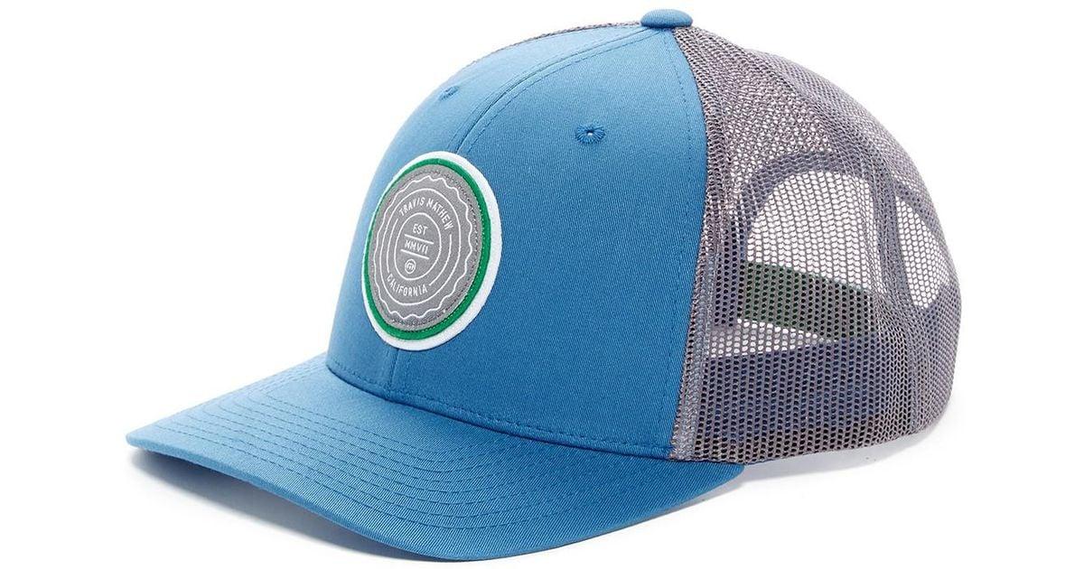 the latest d909c bfa5d ... switzerland nwt travis mathew hat c8503 58909 cheapest lyst travis  mathew trip l snapback in blue for men 86e0f 003e7 ...