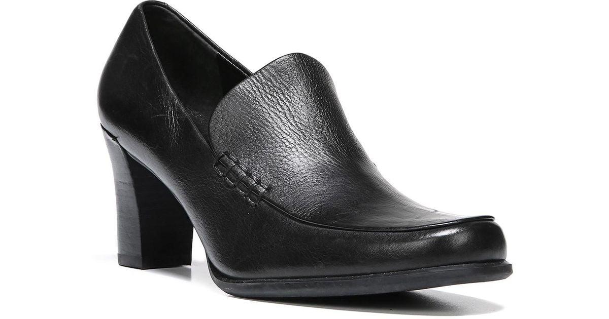 0e069fad3c Lyst - Franco Sarto Nolan Block Heel Loafer - Multiple Widths Available in  Black