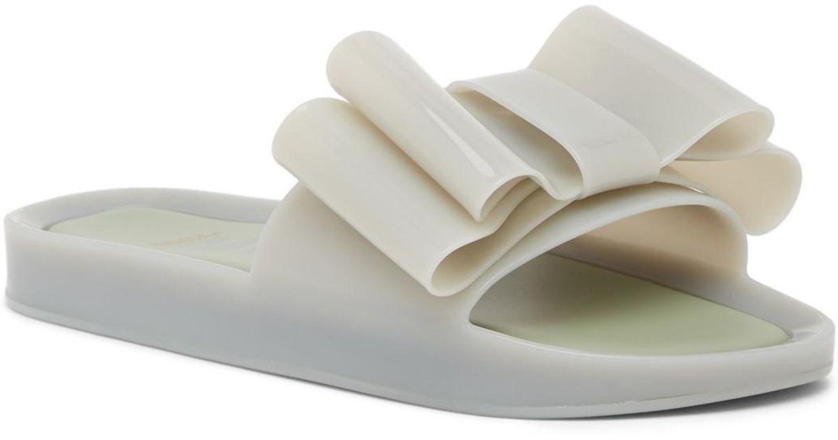 1ee563226bc5 Lyst - Melissa Beach Bow Jelly Slide Sandal in Green