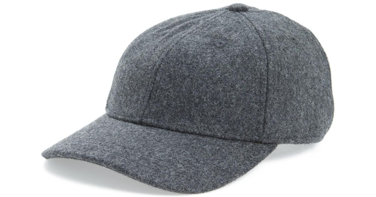 0f0c4c80d Lyst - Madewell Wool Blend Baseball Cap in Gray for Men