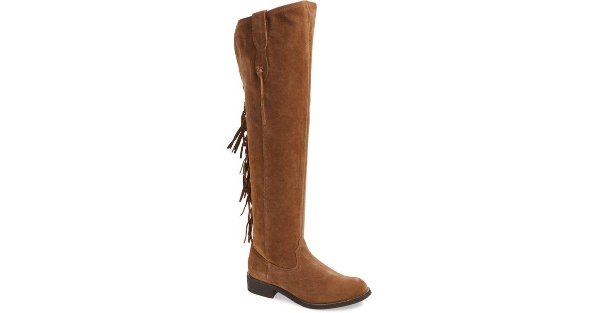 8c1369a24af Ariat - Brown Farrah Fringe Over The Knee Boot - Lyst