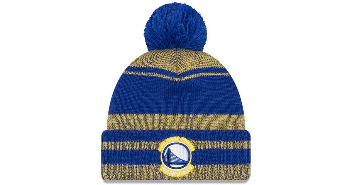 bee0da454 Lyst - KTZ Nfl Golden State Warriors Glacial Pom Knit Beanie in Blue for Men