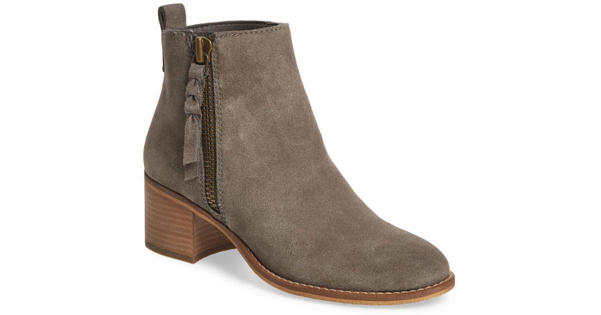 a34e2d12e9fbe Lyst - BP. Just Block Heel Bootie (women) in Gray