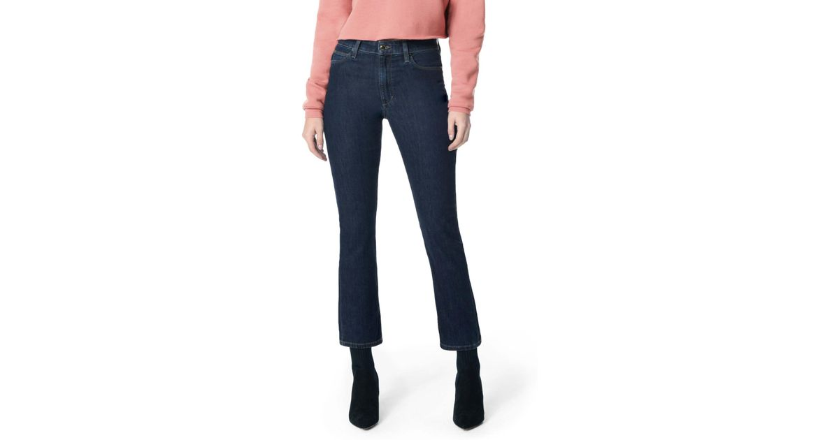4b2377eac2 Joe's Jeans The Callie High Waist Crop Bootcut Jeans (merina) in Blue - Lyst