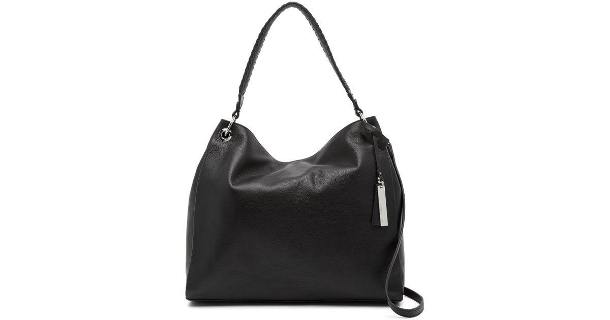 d23dfeb93 Vince Camuto Nadja Leather Hobo 1 Bag in Black - Lyst