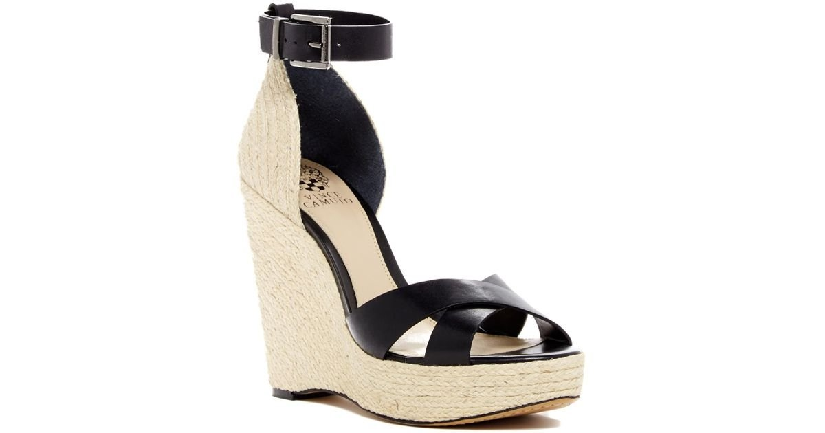 887324e83a0 Lyst - Vince Camuto Maurita Wedge Sandal in Black
