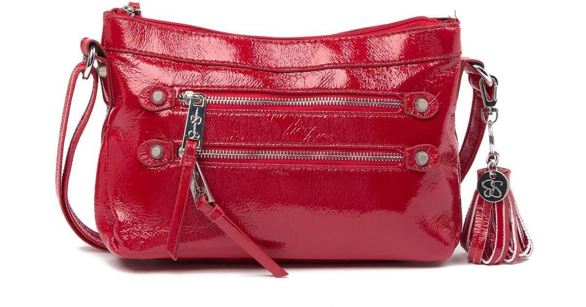 25fd1414c2c2 Lyst - Jessica Simpson Eva Crossbody Bag in Red