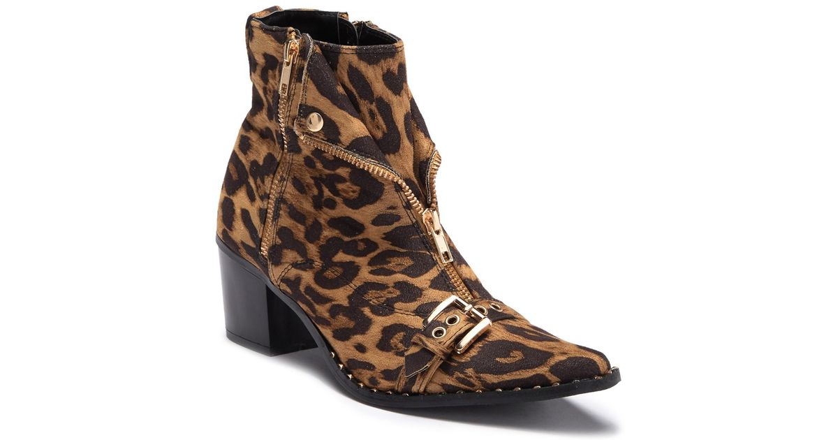 254203aa877 Lyst - Cape Robbin Moto Pointy Toe Ankle Boot in Brown