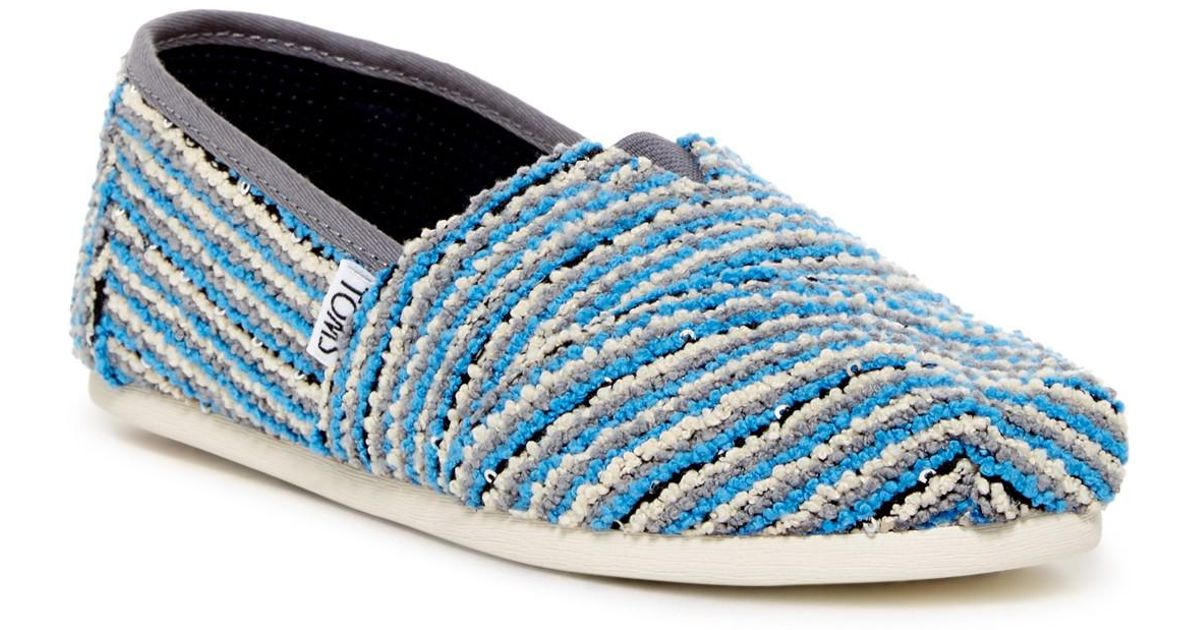 TOMS Classic Sequin Boucle Slip-On Shoe fyJveqRBHU