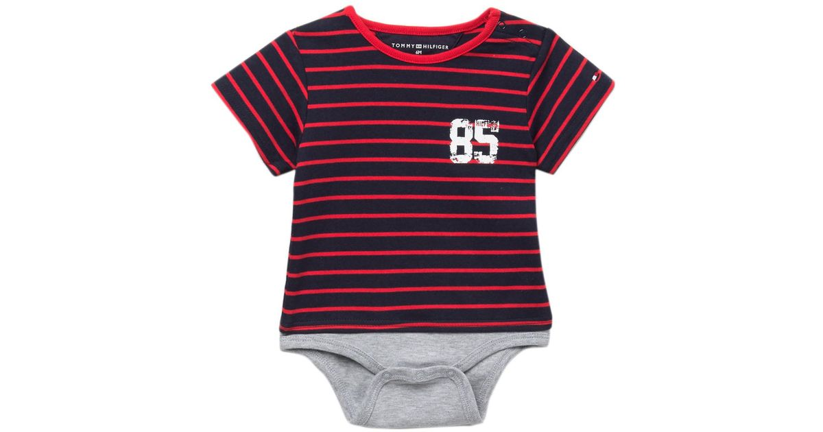 c1a1fcbbb1f9 Lyst - Tommy Hilfiger Tommy Striped Bodysuit (baby Boys 3-9m) in Red for Men