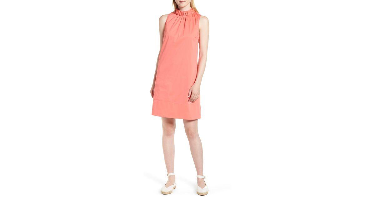 b6cfe4b02b0f Lyst - 1901 Stretch Cotton Poplin Shift Dress (regular & Petite) in Pink