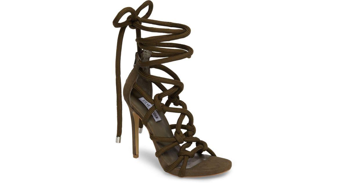 a6449b983e3 Lyst - Steve Madden Dream Ankle Tie Sandal (women) in Black