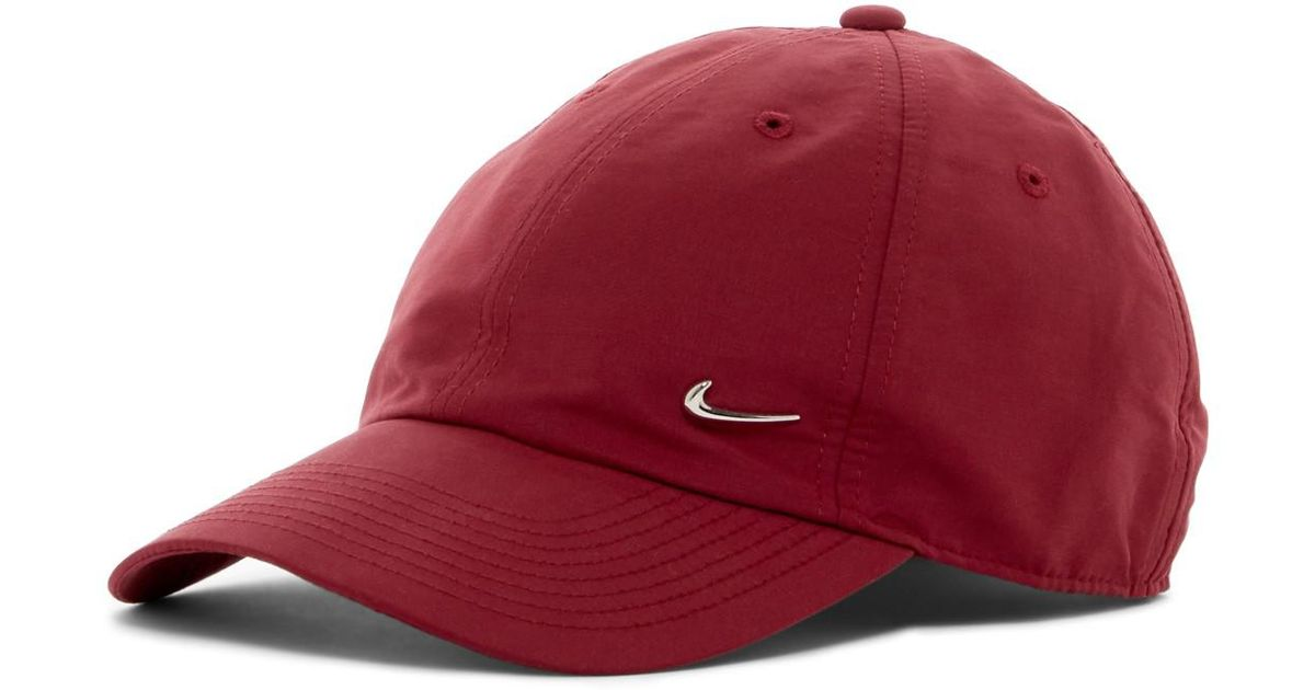 separation shoes e5fdd 04e7a ... where can i buy lyst nike metal swoosh cap in red bbb79 ea662