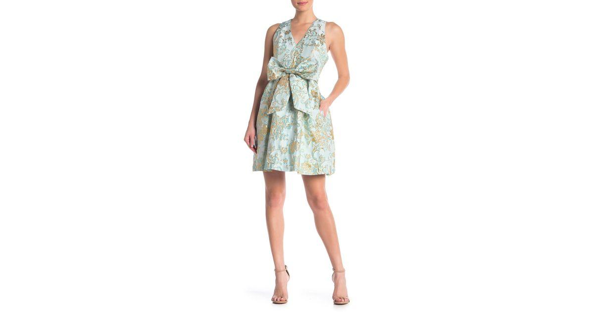 bd6b34236 Lyst - Betsey Johnson Bow Jacquard Dress in Blue