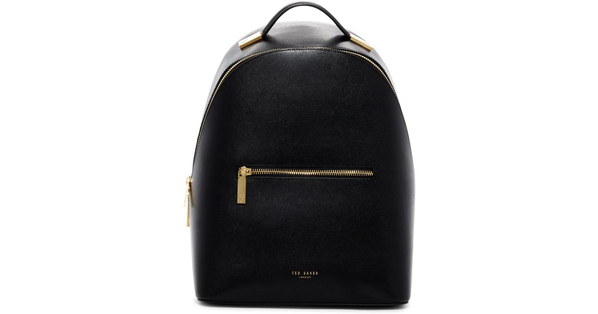 0aef362c2 Lyst - Ted Baker Jarvis Mini Grain Leather Backpack in Black