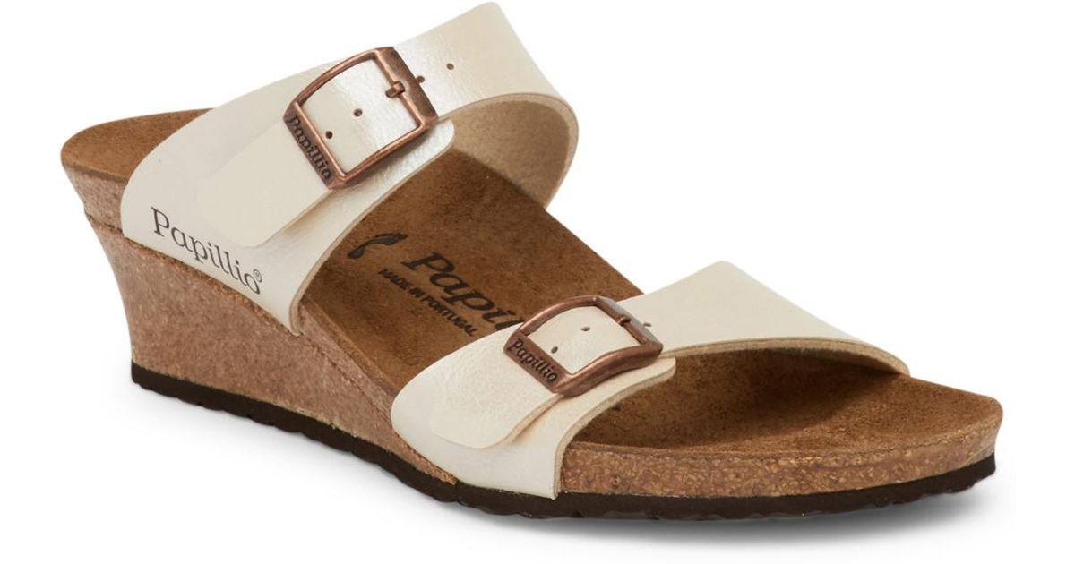 a0d50585baa6 Lyst - Birkenstock Dorothy Wedge Sandal - Discontinued in Natural