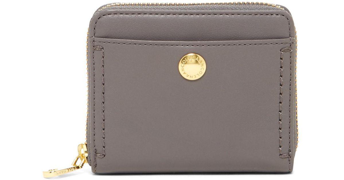99e759607ea Cole Haan Benson Ii Leather Zip Around Wallet - Lyst