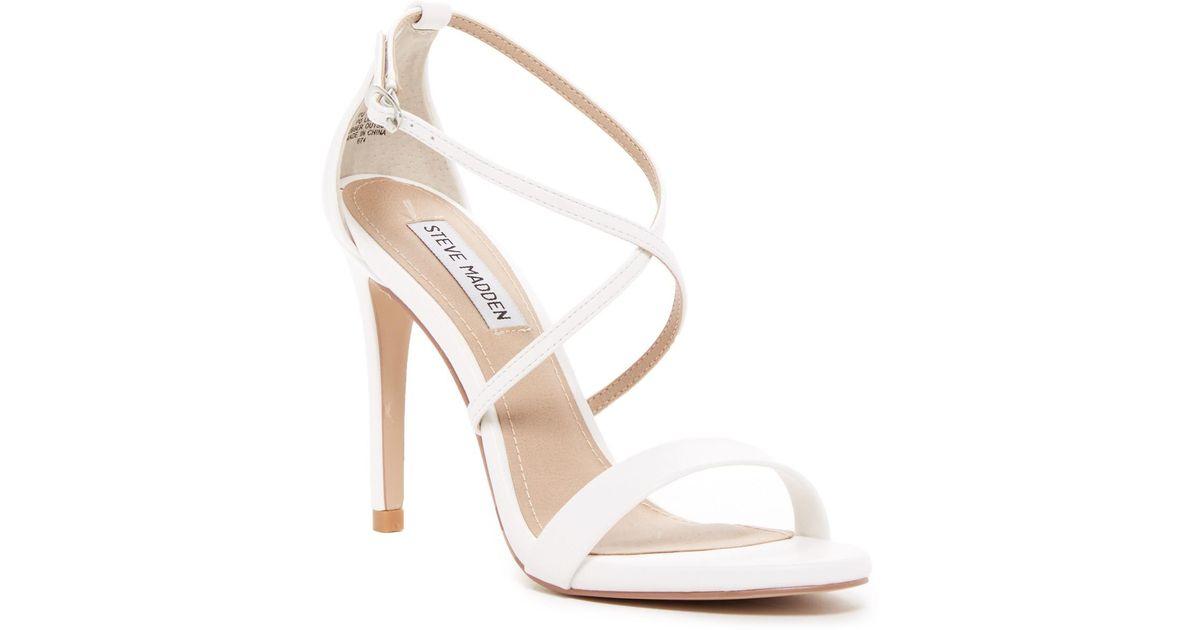 350c92f1441 Lyst - Steve Madden Floriaa Heel Sandal in White