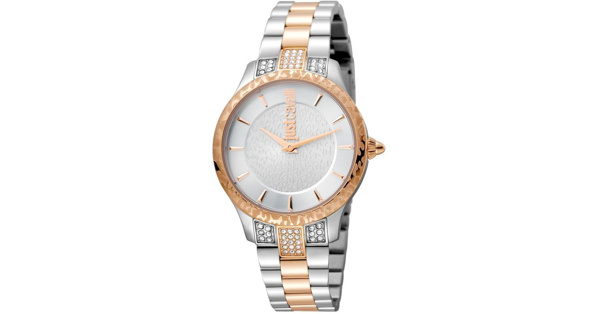 d978aecd7800 Lyst - Just Cavalli Women s Animal Chantilly Leather Watch