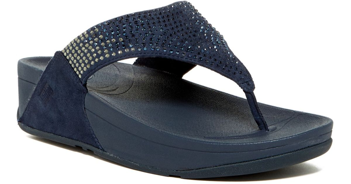 3df4a3f08a636 Fitflop Flare Slide Navy Womens Sandals