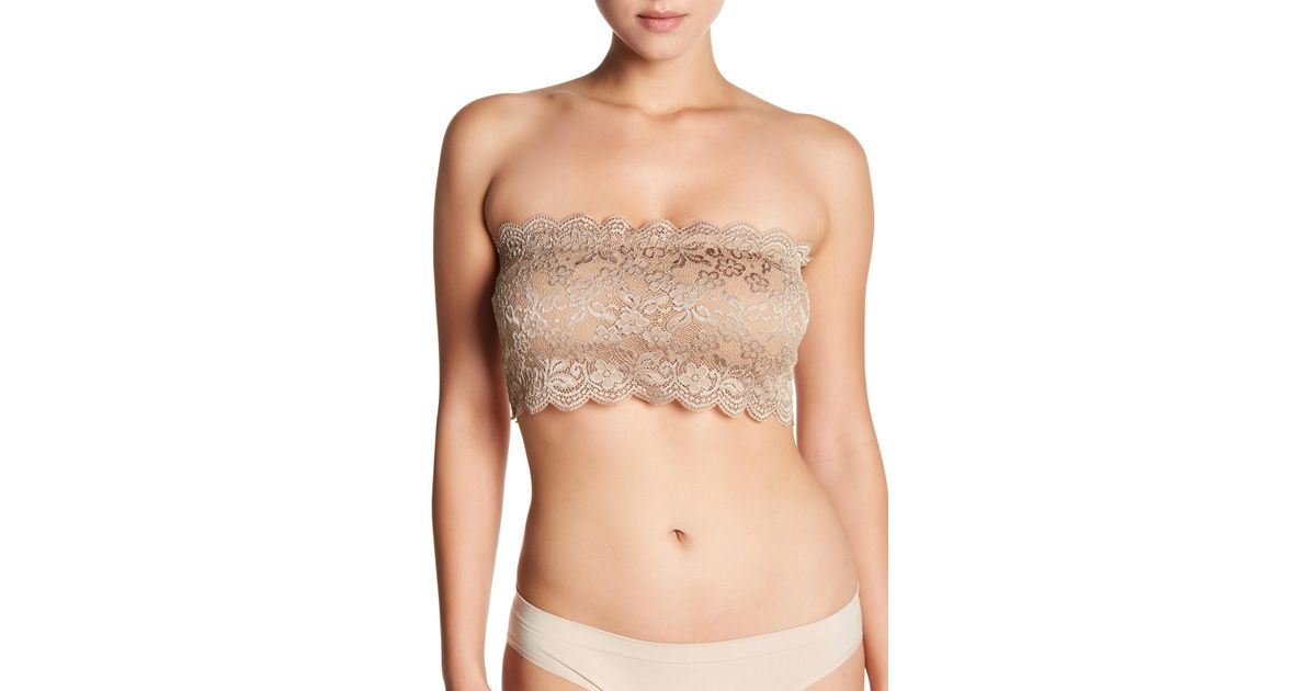 94172f5329697 Lyst - Brazabra Chantilly Lace Popover Bralette in Natural