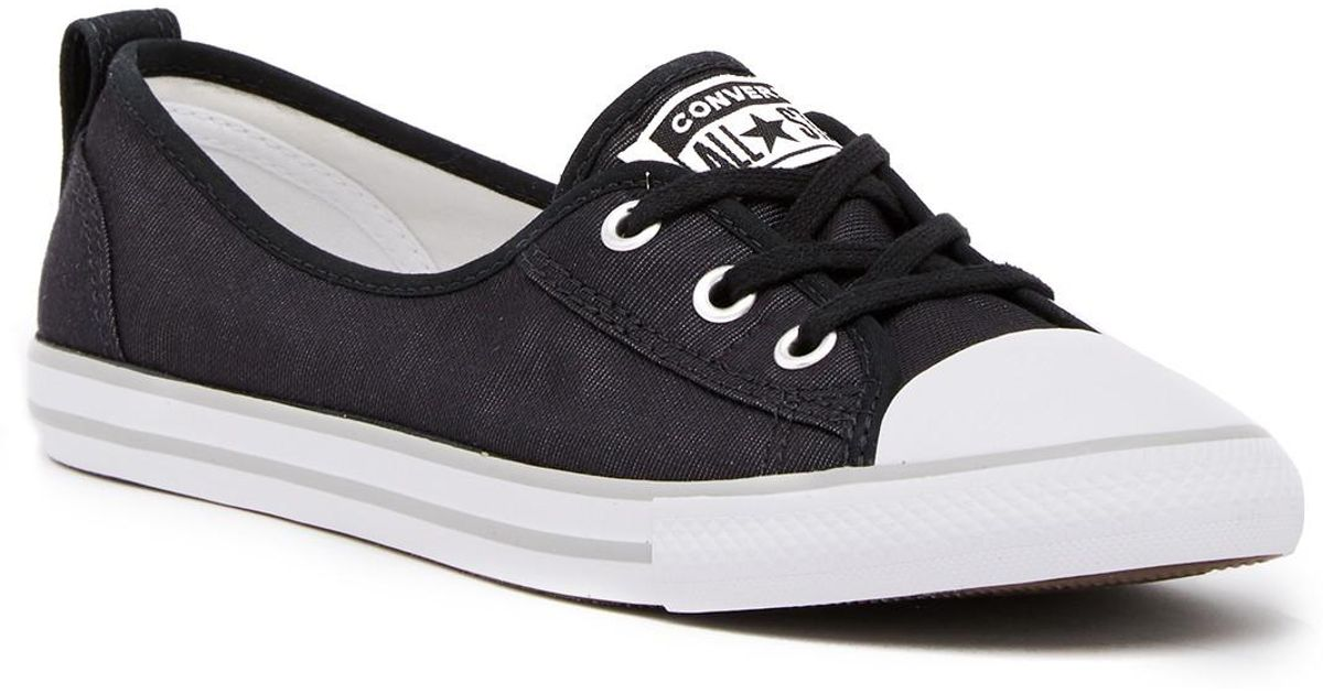 9254076b5c12 Converse Chuck Taylor All Star Ballet Lace-up Sneaker (women) in Black -  Lyst