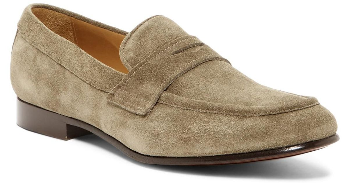 5366d78a66e Lyst - Frye Aiden Suede Penny Loafer in Gray for Men