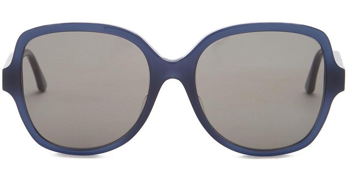 c073a19fb72b2 Bottega Veneta Oversized Sunglasses in Blue - Lyst